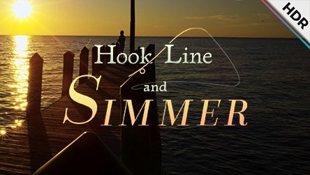 check out a sample of Hook, Line, and Simmer on YouTube
